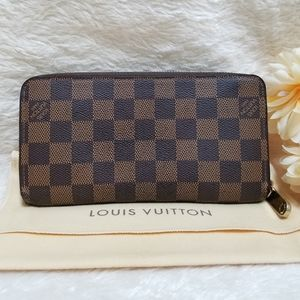 😍 Louis Vuitton Zippy Wallet Damier Ebene Brown